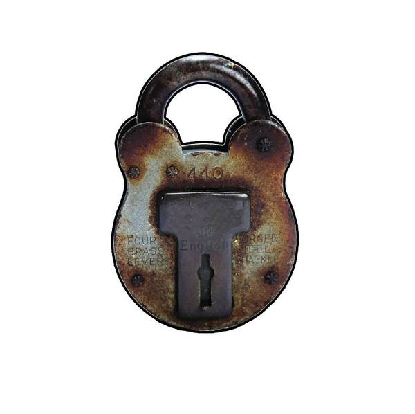 Vintage Conway Photograph - Padlock by Tom Conway