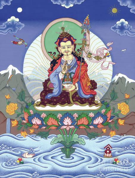 Guru Painting - Padmasambhava by Carmen Mensink