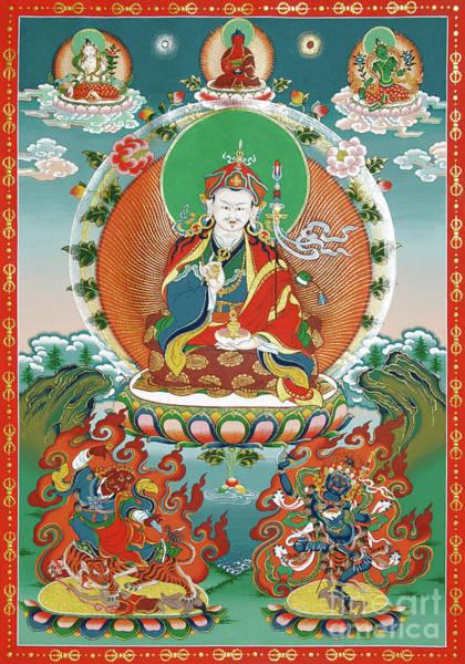 Thangka Painting - Padmasambhava by Sergey Noskov