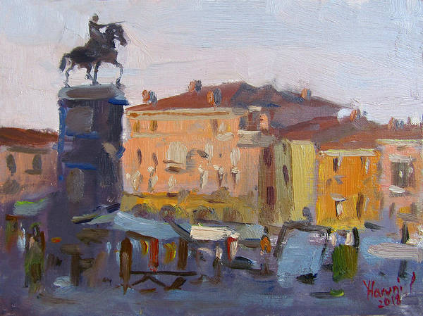Monuments Painting - Padua Italy by Ylli Haruni