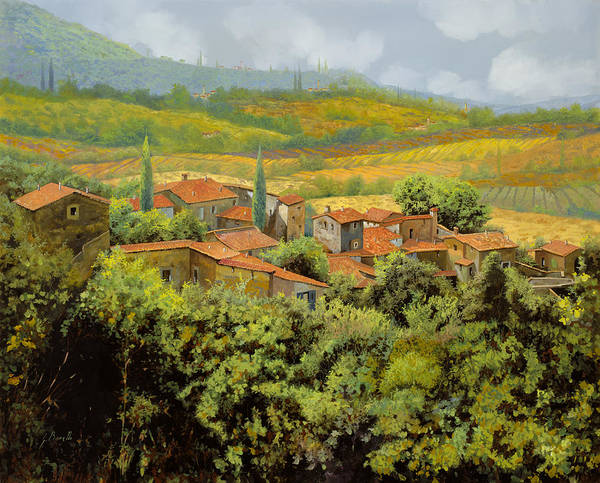 Landscape Wall Art - Painting - Paesaggio Toscano by Guido Borelli