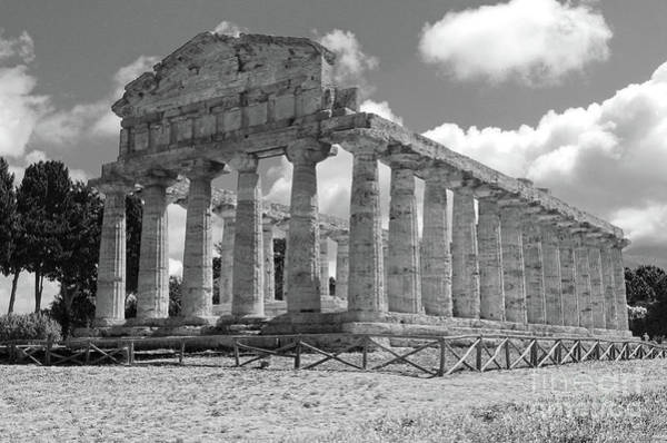 Photograph - Paestum Temple Of Athena by Gregory Dyer