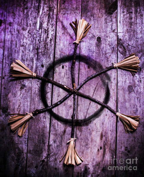Evil Photograph - Pagan Or Witchcraft Symbol For A Gathering by Jorgo Photography - Wall Art Gallery