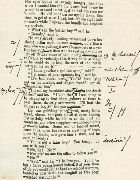 Wall Art - Drawing - Page Proof From Great Expectations by Vintage Design Pics