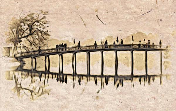 Digital Art - Pagoda Bridge by Cameron Wood