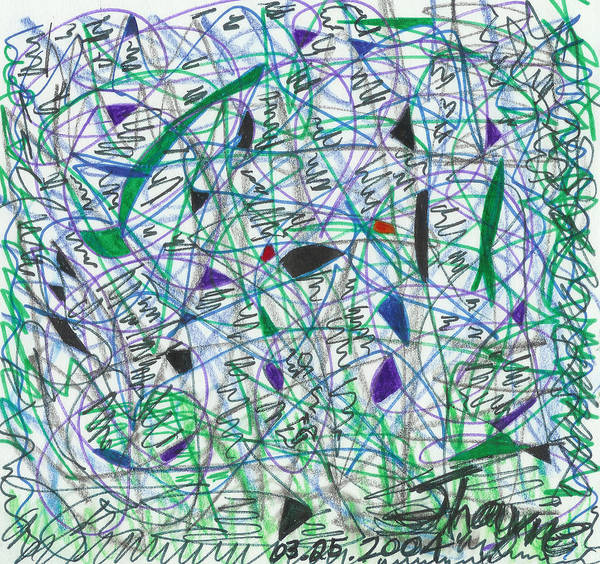 Drawing - Pain And Confusion 1 by Susan Schanerman