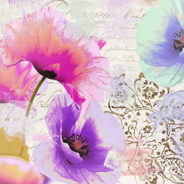 Pavot Wall Art - Painting - Paint And Poppies by Mindy Sommers
