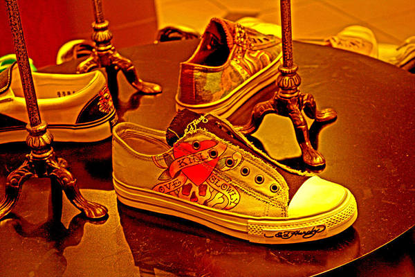 Photograph - Paint And Sneakers by Joseph Coulombe
