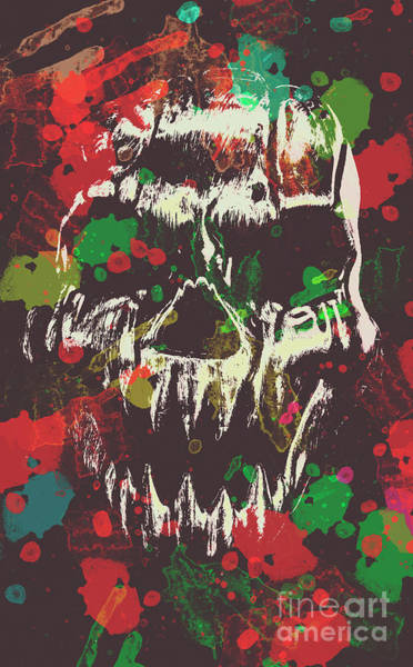 Splash Photograph - Paint Splash Skull by Jorgo Photography - Wall Art Gallery