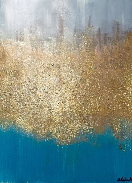 Painting - Paint The Sky Gold by Alisha Anglin