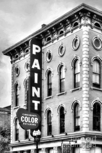 Photograph - Paint The Town Black And White  by Mel Steinhauer