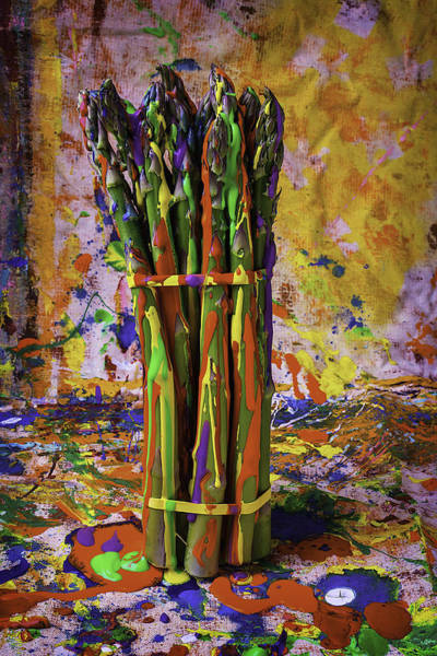 Asparagus Wall Art - Photograph - Painted Asparagus by Garry Gay