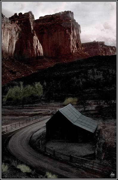 Photograph - Painted Barn In The Canyonlands by Wayne King