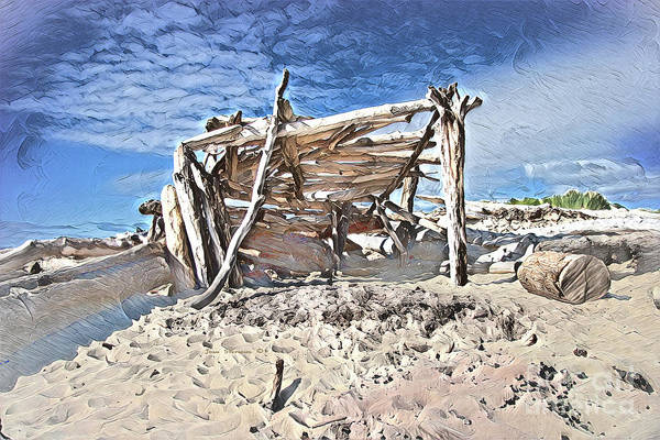 Lean-tos Photograph - Painted Driftwood Castle by John Stephens