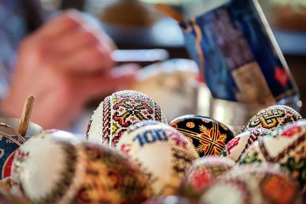 Photograph - Painted Eggs - Romania by Stuart Litoff