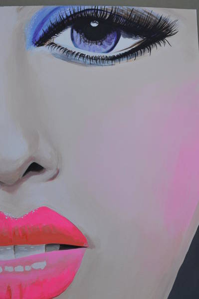 Painting - Painted Face by Roberta Dunn