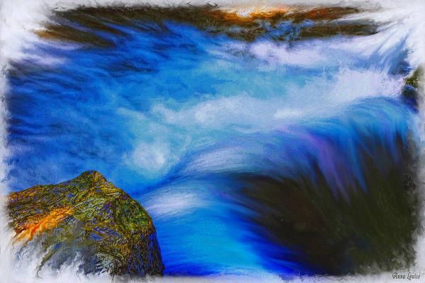 Photograph - Painted Flowing Creek by Anna Louise