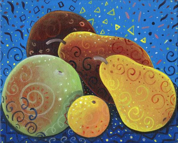Painting - Painted Fruit by Helena Tiainen