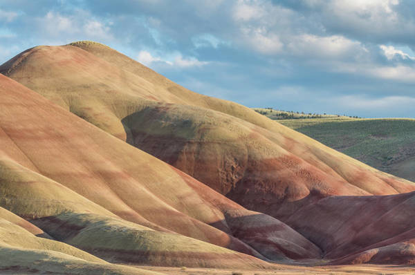 Oregon Ridge Photograph - Painted Hill And Clouds by Greg Nyquist