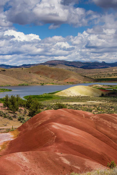 Wall Art - Photograph - Painted Hills And Lake by John Trax