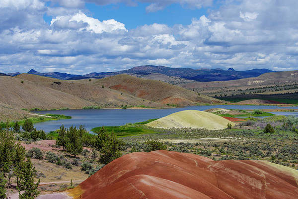 Wall Art - Photograph - Painted Hills Reservoir In The Oregon Painted Hills by John Trax