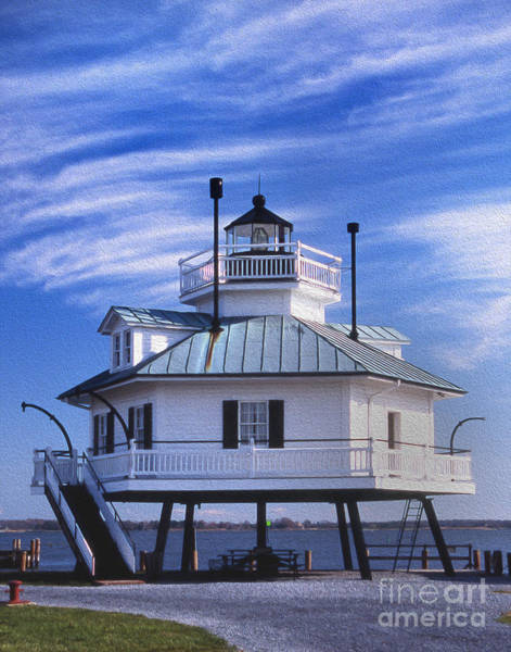 Wall Art - Photograph - Painted Hooper Straight Lighthouse by Skip Willits