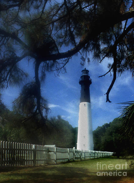 Hunting Island Lighthouse Wall Art - Photograph - Painted Hunting Island Lighthouse by Skip Willits
