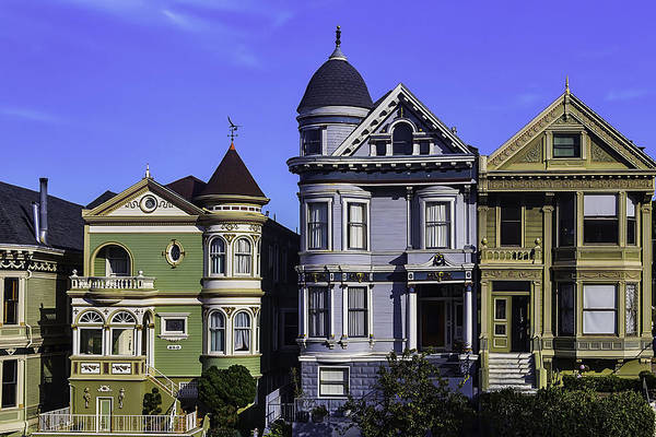 Edwardian Photograph - Painted Ladies Of San Francisco  by Garry Gay