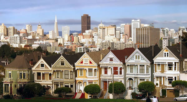 Queen Anne Style Photograph - Painted Ladies Of San Francisco's Alamo Square by Daniel Hagerman