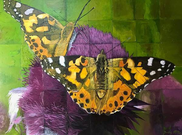 Painting - Painted Lady Butterflies by Dustin Miller