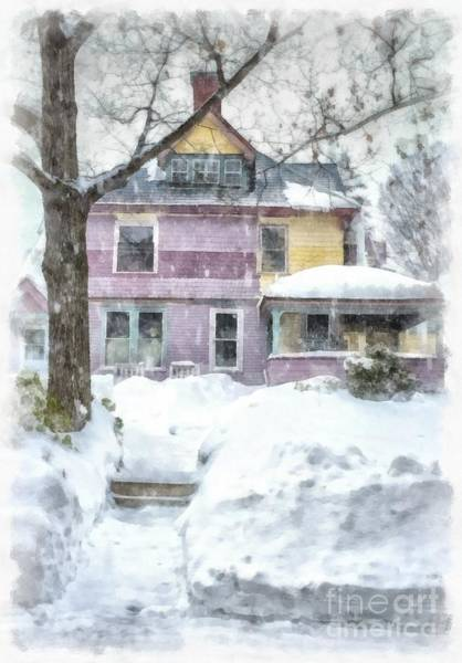 Photograph - Painted Lady Snowstorm by Edward Fielding