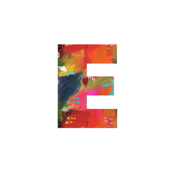 Painting - Painted Letter E-monogram Art By Linda Woods by Linda Woods