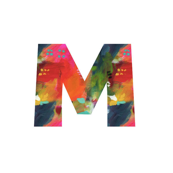 Painting - Painted Letter M-monogram Art By Linda Woods by Linda Woods