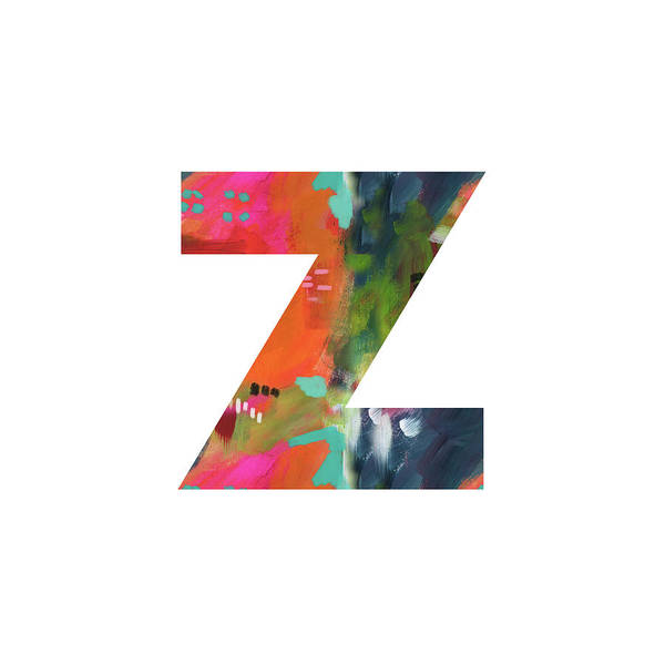 Painting - Painted Letter Z-monogram Art By Linda Woods by Linda Woods
