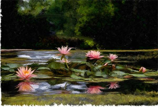 Chs Digital Art - Painted Lily by Ches Black