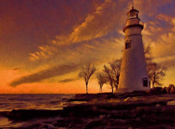 Wall Art - Painting - Painted Marblehead Lighthouse by Dan Sproul