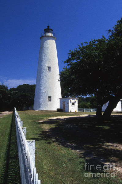 Ocracoke Lighthouse Photograph - Painted Ocracoke Lighthouse by Skip Willits