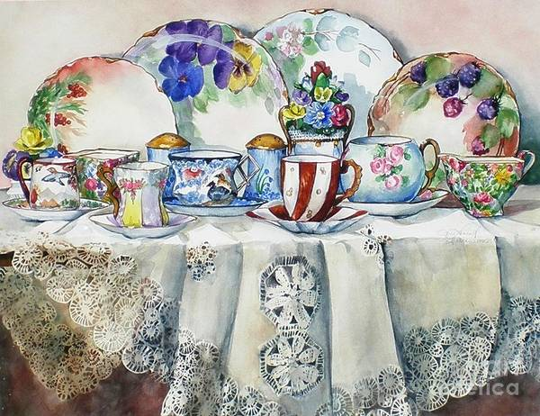 Painting - Painted Painted China by Jane Loveall
