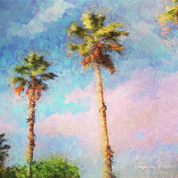 Digital Art - Painted Palms by Jacqueline Sleter