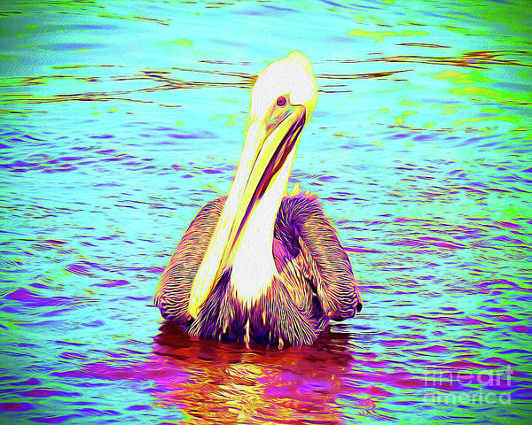 Wall Art - Painting - Painted Pelican by Chris Andruskiewicz