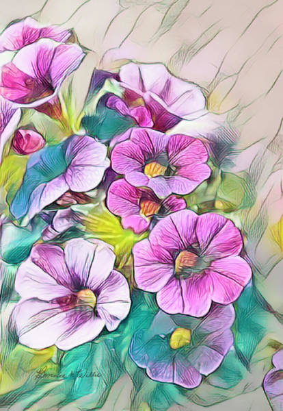 Digital Art - Painted Petunia by Bonnie Willis