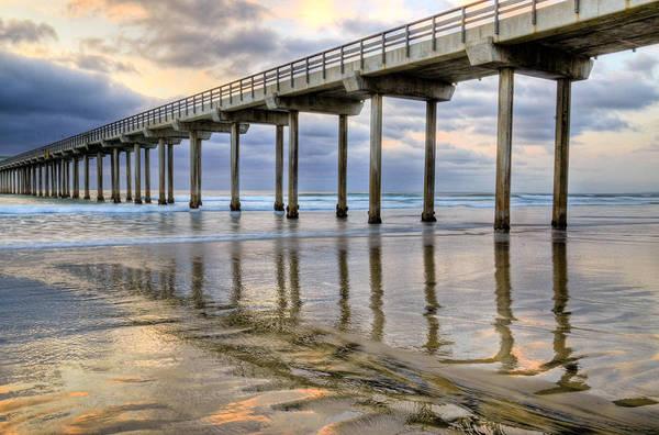 Scripps Pier Photograph - Painted Pier by Kelly Wade