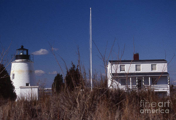 Wall Art - Photograph - Painted Piney Point Lighthouse by Skip Willits