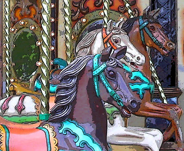 Photograph - Painted Ponies by Anne Cameron Cutri