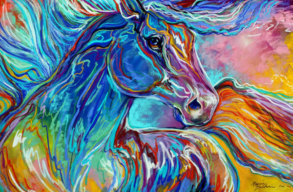 Wall Art - Painting - Painted Pony Abstract In Pastel by Marcia Baldwin