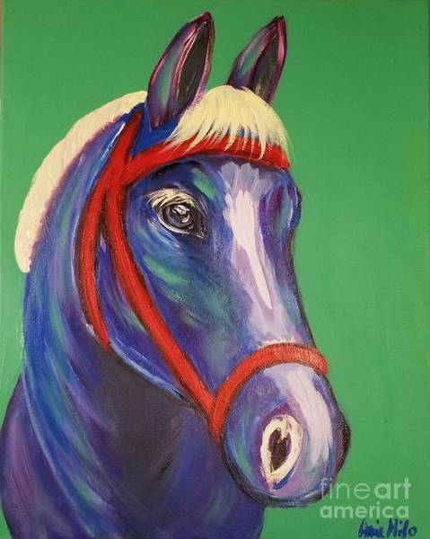 Painting - Painted Pony Blue by Ania M Milo