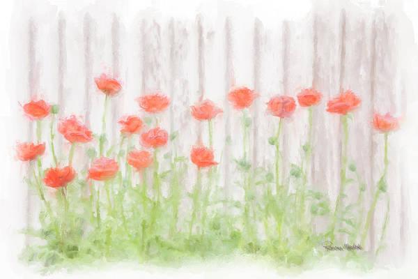 Digital Art - Painted Poppies by Ramona Murdock