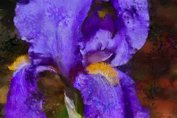 Photograph - Painted Purple Iris Majesty by Anna Louise