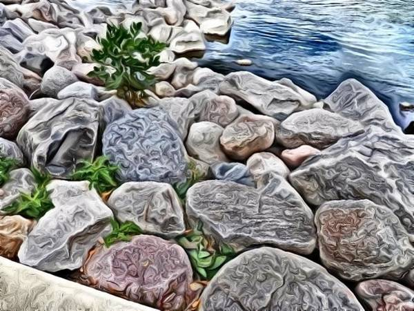 Photograph - Painted Rocks by Deborah Kunesh