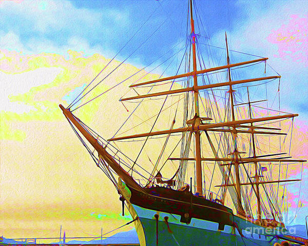 Wall Art - Painting - Painted San Francisco Ship I by Chris Andruskiewicz